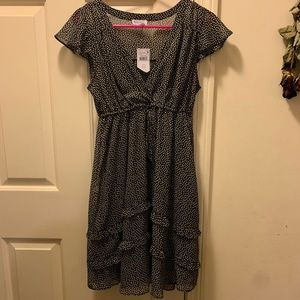 Motherhood Small Maternity Summer Dress Black Dots